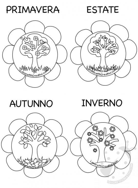 Idea Cartellone Con Le 4 Stagioni Lavoretti Creativi
