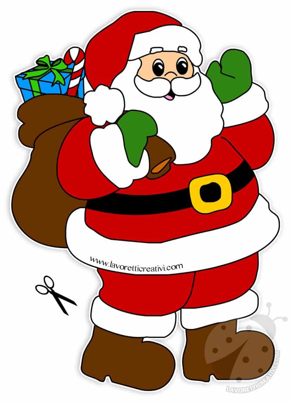 Immagini di Babbo Natale con sacco dei regali