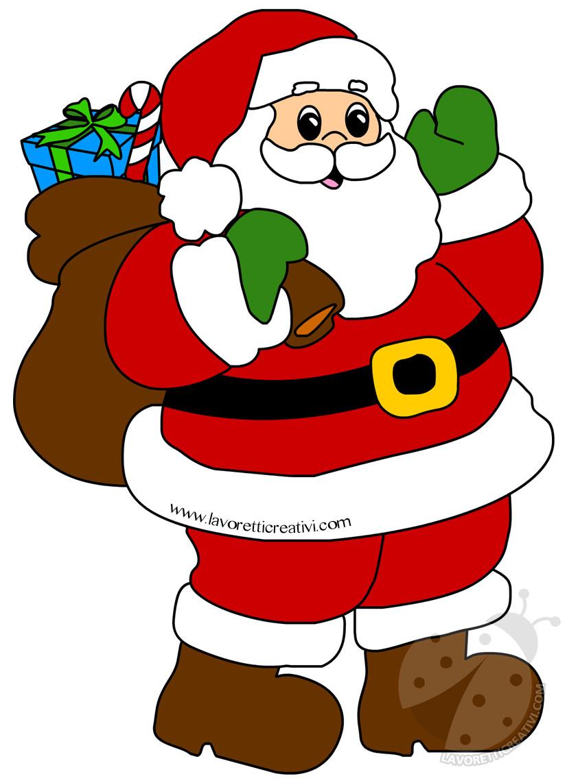 Bambini Babbo Natale Disegno.Immagini Di Babbo Natale Con Sacco Dei Regali Lavoretti Creativi