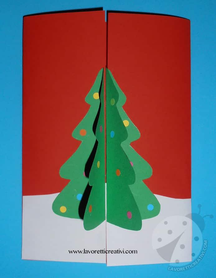Biglietto Natalizio Fatto A Mano Con Albero Di Natale In 3d