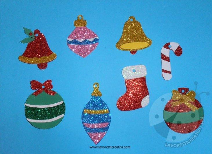 Lavoretti Da Appendere All Albero Di Natale.Decorazioni Di Natale Con Gomma Crepla Glitter Da Appendere