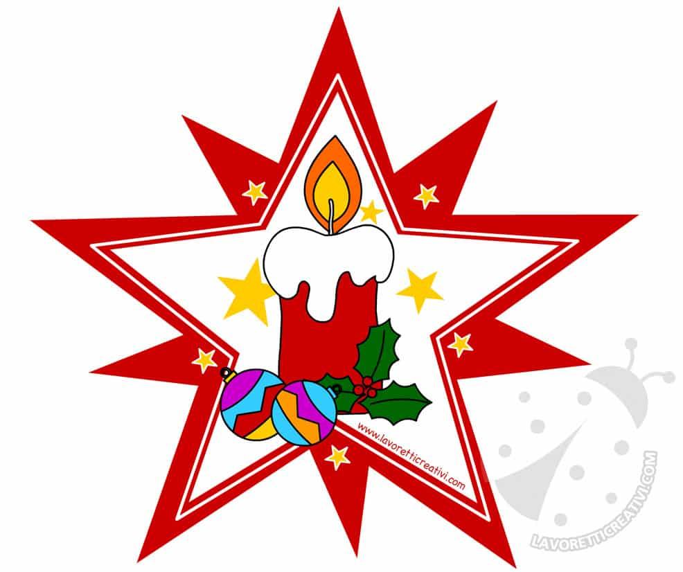 Decorazioni di natale stella con candela lavoretti creativi - Disegni di natale per finestre ...