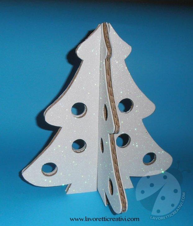Lavoretti Di Natale Con Il Cartone.Albero Di Natale 3d Con Cartone Riciclato Tutorial