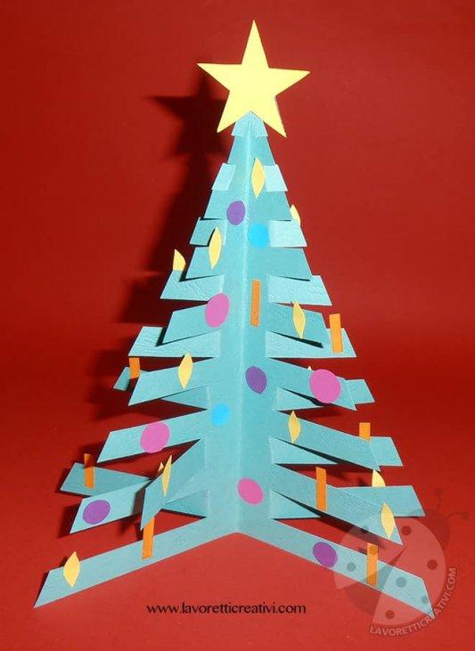 Lavoretti Di Natale Bambini 1 Anno.Lavoretti Di Natale Per Bambini Albero Di Natale 3d Lavoretti Creativi