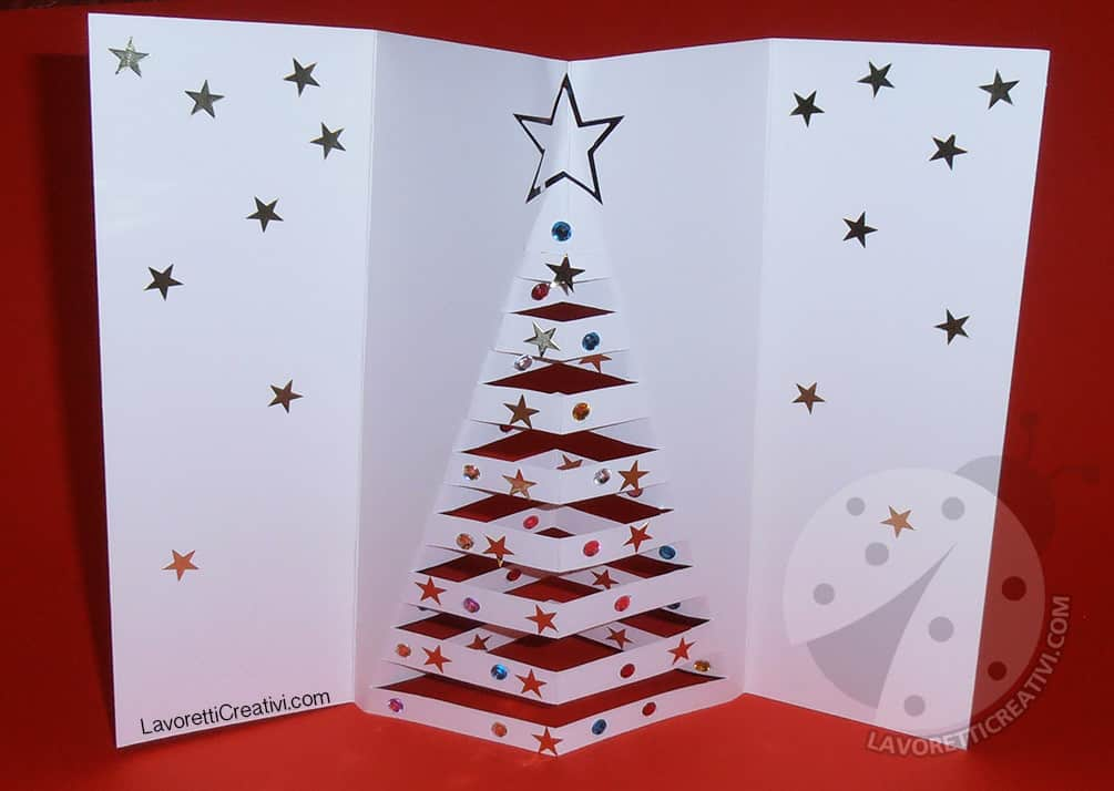 Auguri Di Natale 3d.Auguri Di Natale Biglietto Di Natale Pop Up Lavoretti Creativi