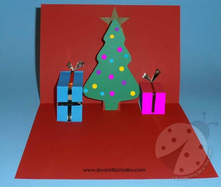 Tutorial Biglietti Di Natale.Semplice Biglietto Pop Up Di Natale Da Costruire Lavoretti