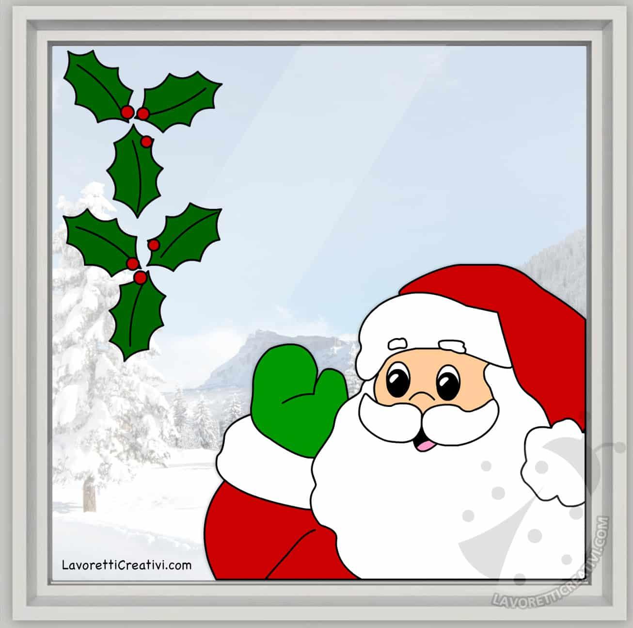 Decorare Finestre Per Natale Scuola decorazioni natalizie per casa e scuola babbo natale alla