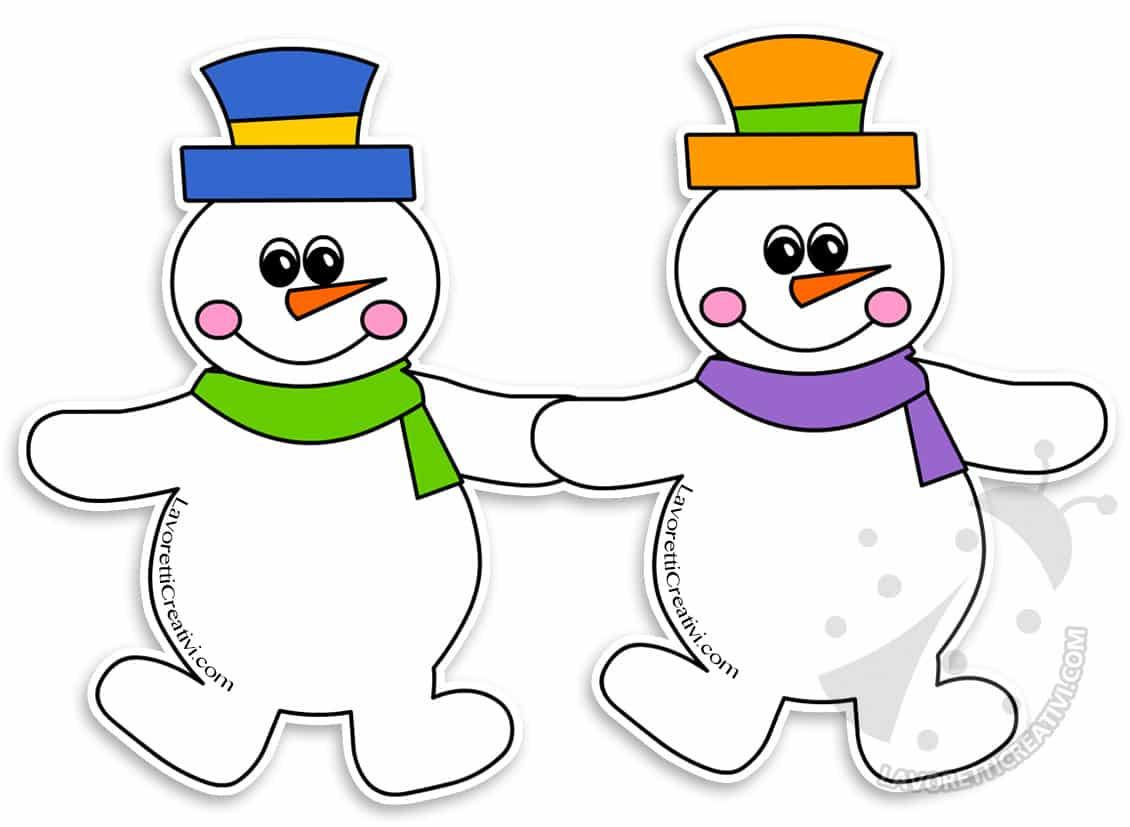 Addobbi finestre inverno Festoni di pupazzi di neve