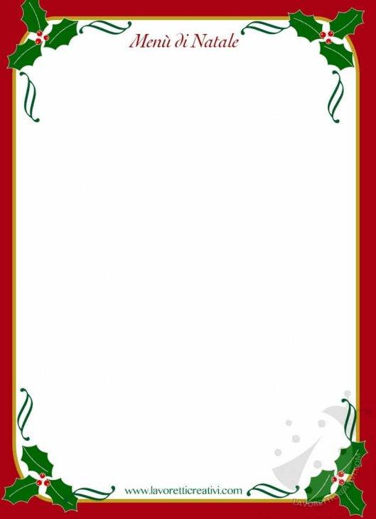 Immagini Menu Di Natale Da Stampare.Modelli Menu Di Natale Da Stampare E Compilare Lavoretti