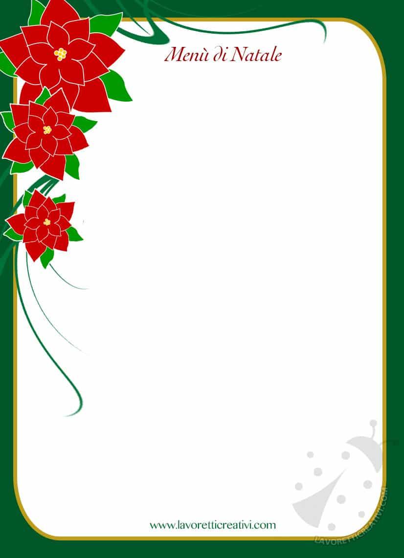 Menu Di Natale Editabile.Modelli Menu Di Natale Da Stampare E Compilare Lavoretti Creativi