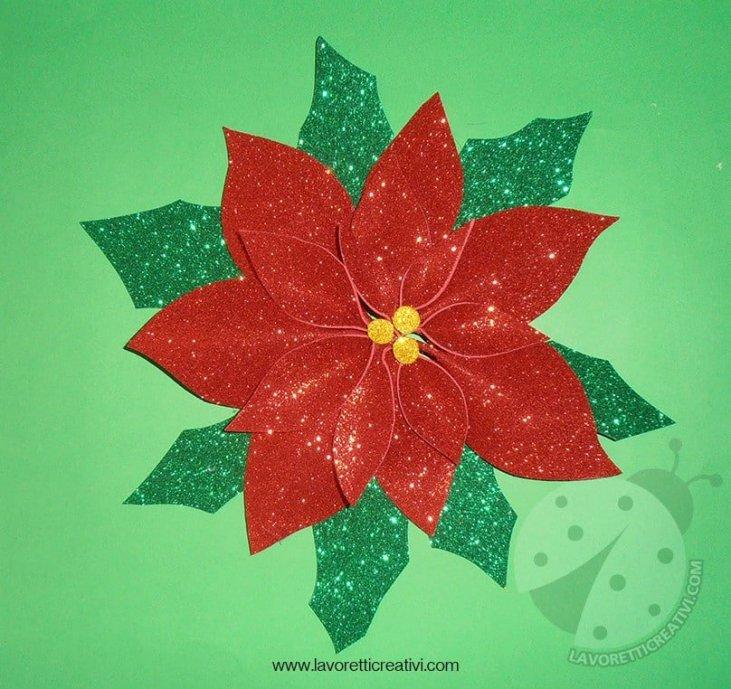 Immagini Stella Di Natale Glitter.Decorazioni Di Natale Con Gomma Crepla Stella Di Natale
