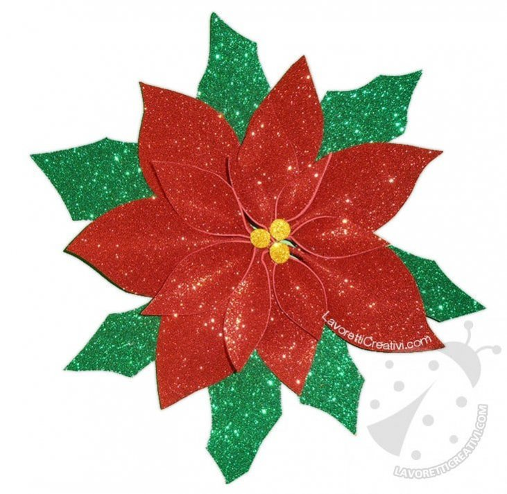 Stella Di Natale Da Stampare.Decorazioni Di Natale Con Gomma Crepla Stella Di Natale Glitter