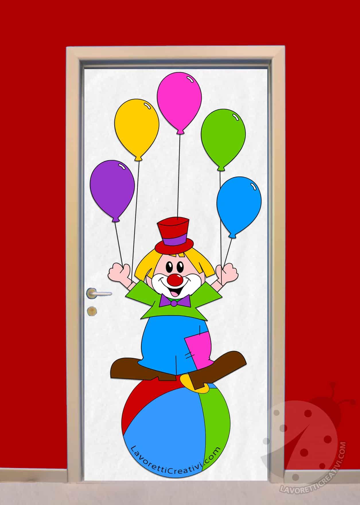 Idea per decorare la porta dell 39 aula a carnevale lavoretti creativi - Decorazioni finestre aula ...