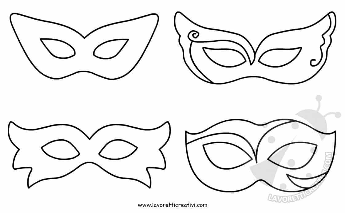 fashion style Acquista autentico prezzo più economico Maschere di Carnevale per bambini da colorare e ritagliare ...