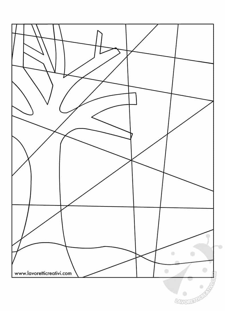 Arte scuola primaria paesaggio notturno invernale con for Disegni marini da stampare
