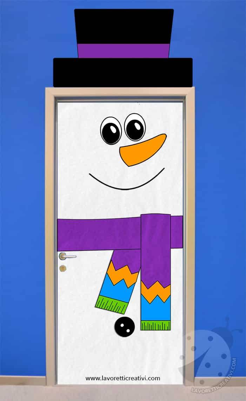 Decorare la porta dell 39 aula in inverno con pupazzo di neve for Addobbare la porta dell aula