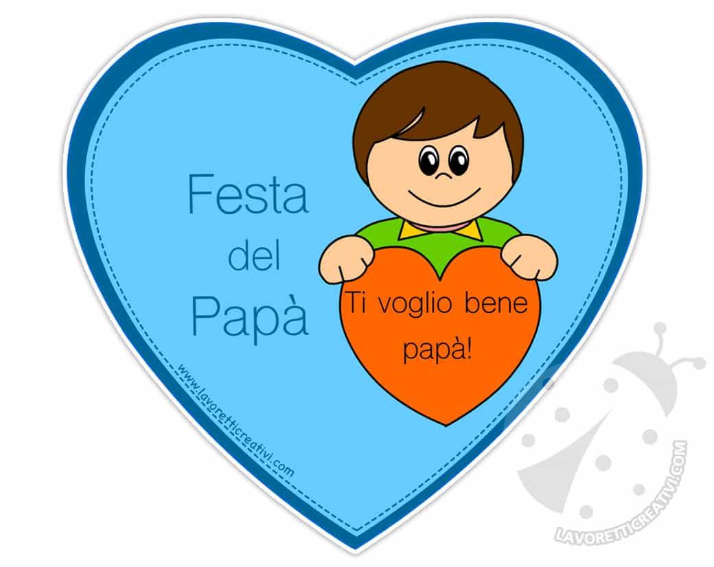 Biglietti Di Auguri Per La Festa Del Papà Con Cuore Lavoretti Creativi