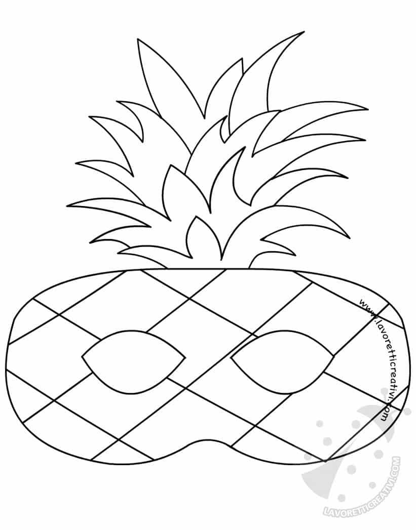 Maschere A Forma Di Frutta Da Colorare Lavoretti Creativi