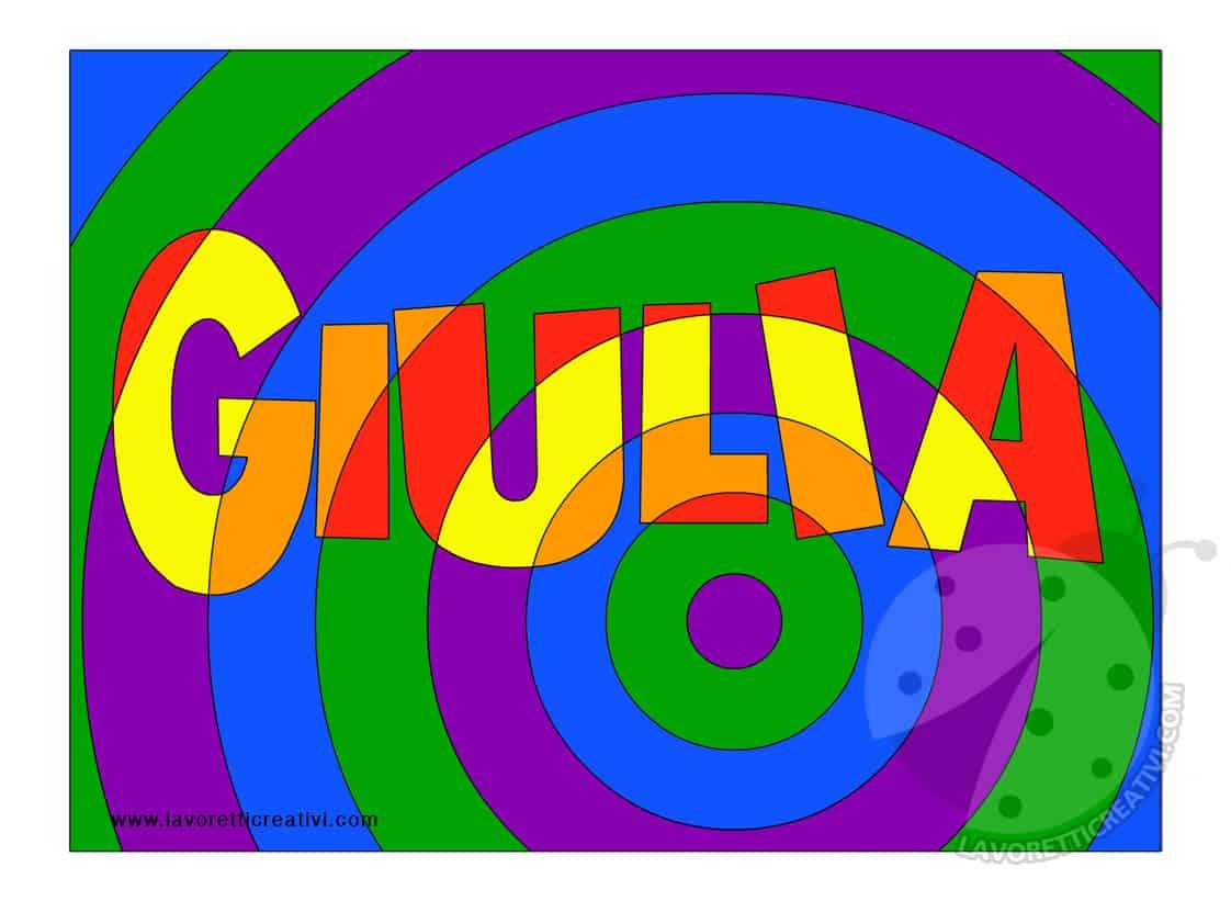 Arte e immagine come realizzare nomi con colori caldi e - Immagine di terra a colori ...