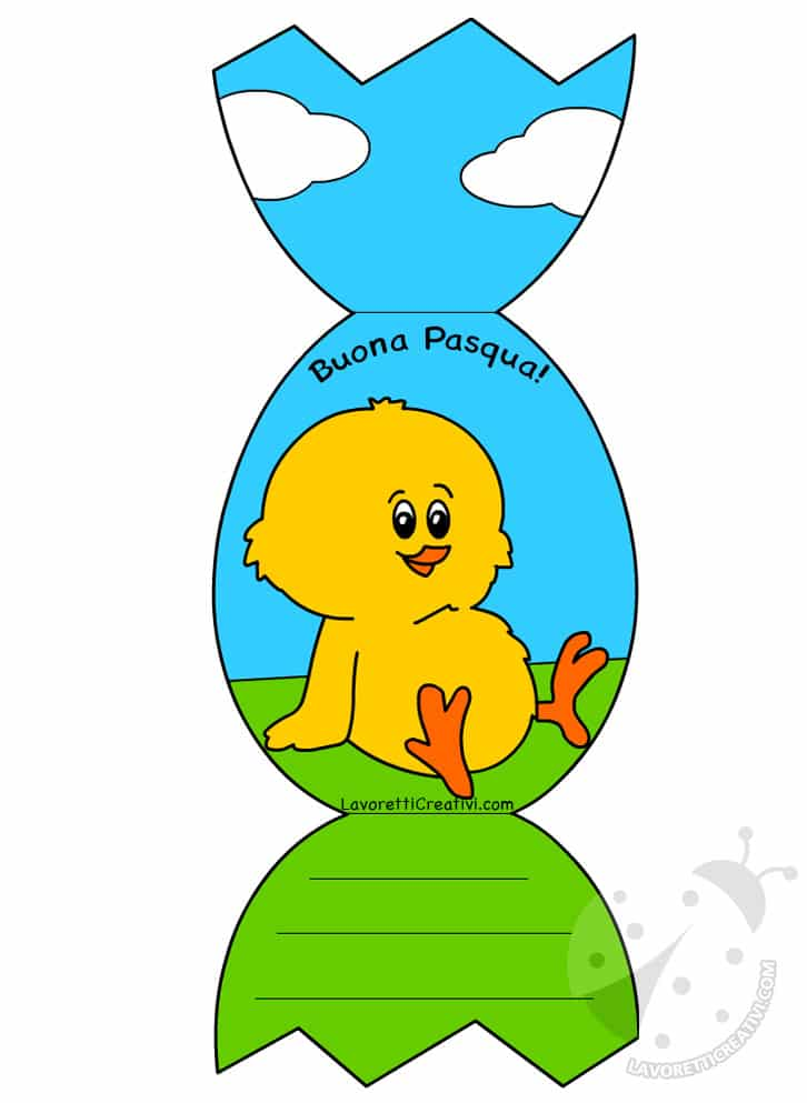 biglietto di Pasqua scuola primaria