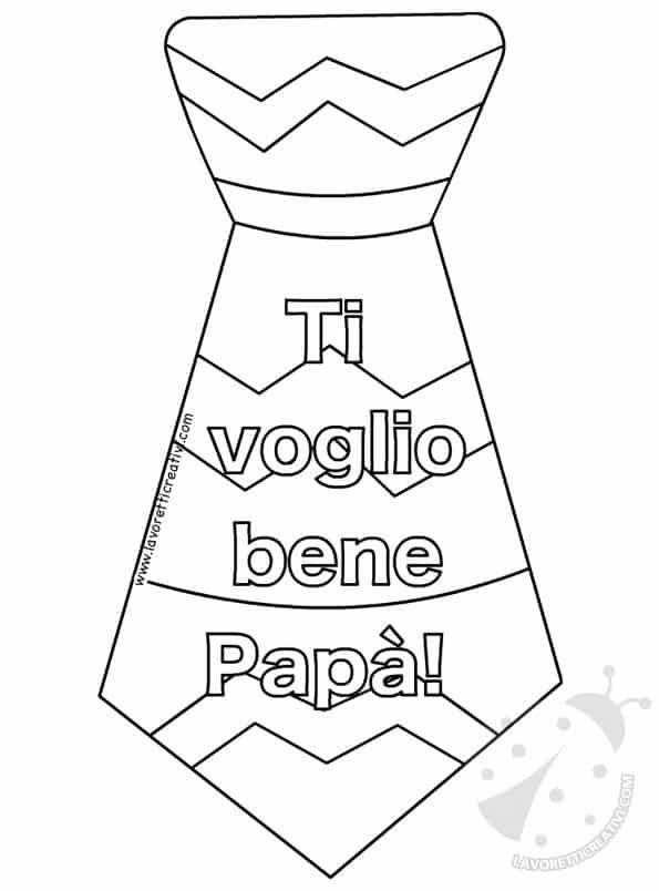 Disegno Per La Festa Del Papà Da Colorare Tuttodisegni Com