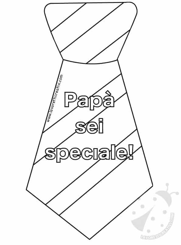 Cravatte Per La Festa Del Papà Con Disegni Da Colorare Lavoretti