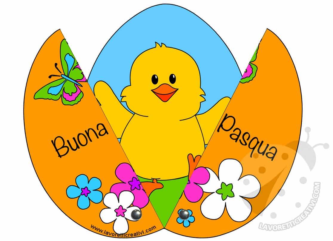 Lavoretti Di Pasqua Per Bambini Uovo Con Pulcino Lavoretti Creativi