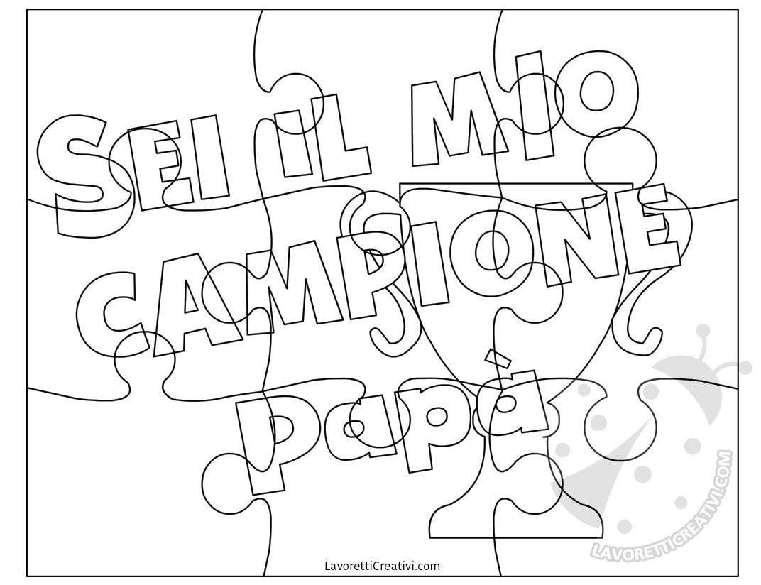 Idee Per La Festa Del Papa Puzzle Da Disegnare E Colorare