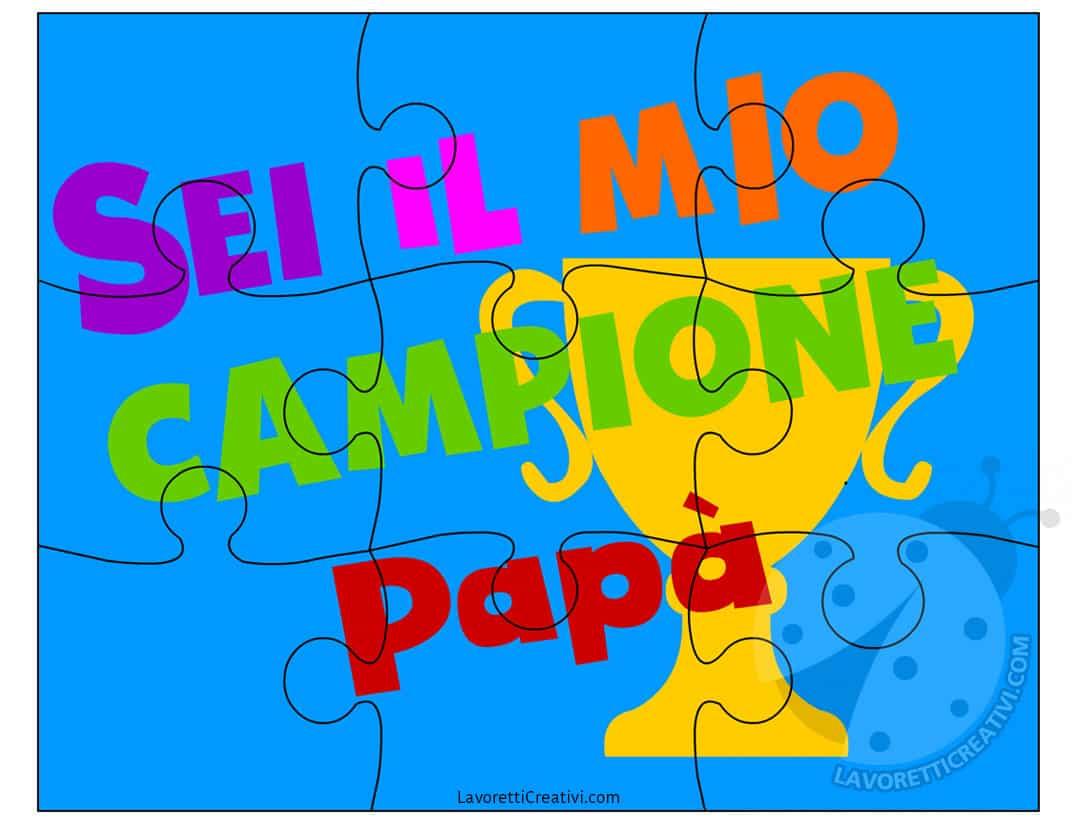 Idee Per La Festa Del Papà Puzzle Da Disegnare E Colorare