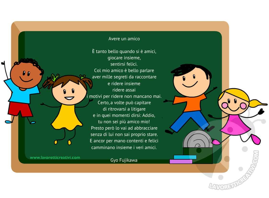 Filastrocca sull'amicizia per bambini