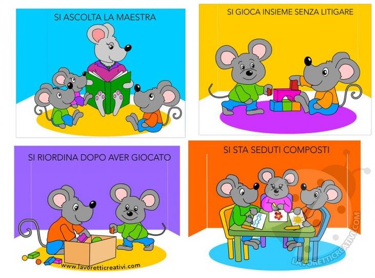 Cartellone Delle Regole Per Bambini Scuola Dellinfanzia Lavoretti