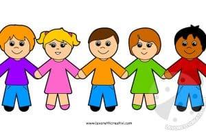 Bambini Stilizzati Lavoretti Creativi