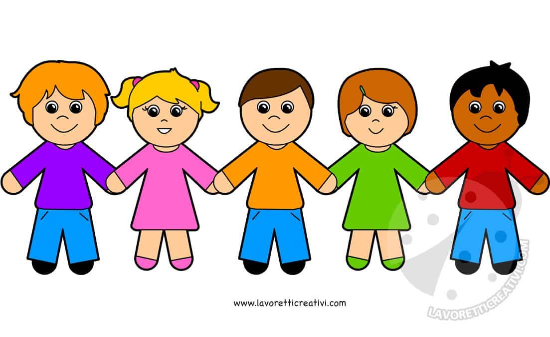 Disegni Da Colorare Di Bambini Che Si Tengono Per Mano.Accoglienza Scuola Bambini Che Si Tengono Per Mano Lavoretti Creativi