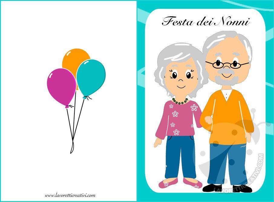 Biglietti Per La Festa Dei Nonni Da Stampare Lavoretti Creativi