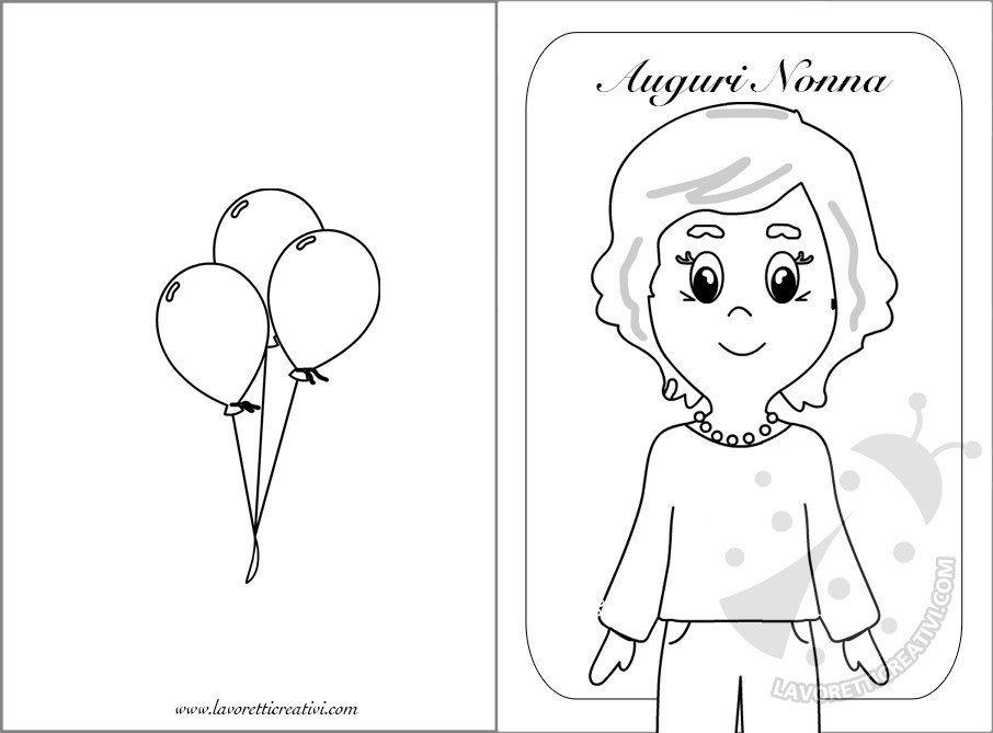 Disegni Da Colorare Per Compleanno Nonna.Biglietti Per La Festa Dei Nonni Da Stampare Lavoretti Creativi