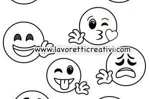 Emoji Da Colorare Lavoretti Creativi
