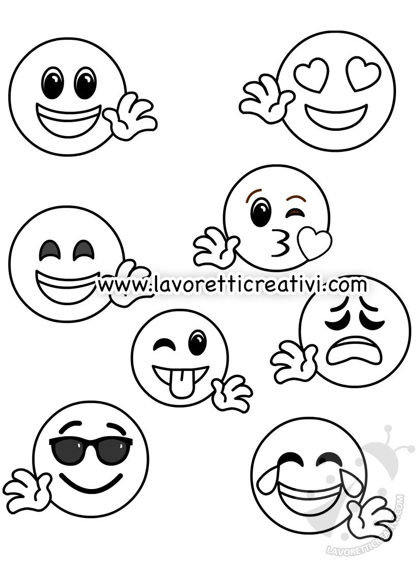 Emoticon Felice Da Colorare