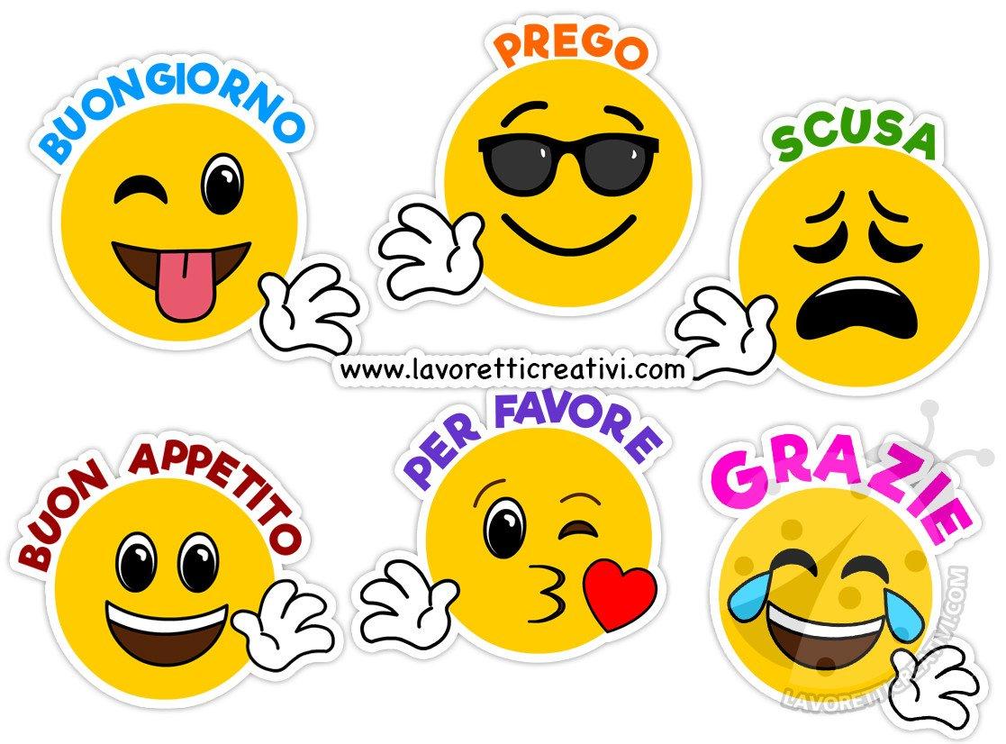 Emoji Con Le Parole Gentili Da Stampare Lavoretti Creativi