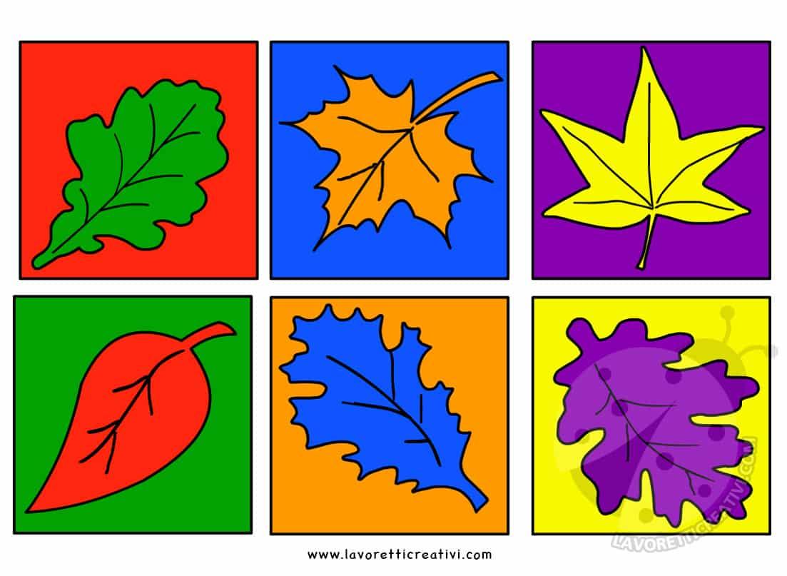Foglie Con I Colori Complementari Arte Scuola Primaria Lavoretti