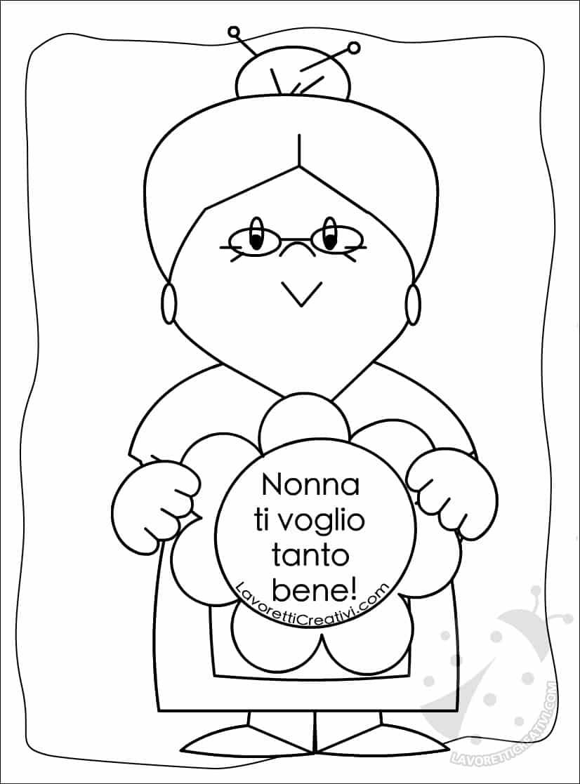 Disegni Da Colorare Per Compleanno Nonna.Disegni Festa Dei Nonni Da Colorare Lavoretti Creativi