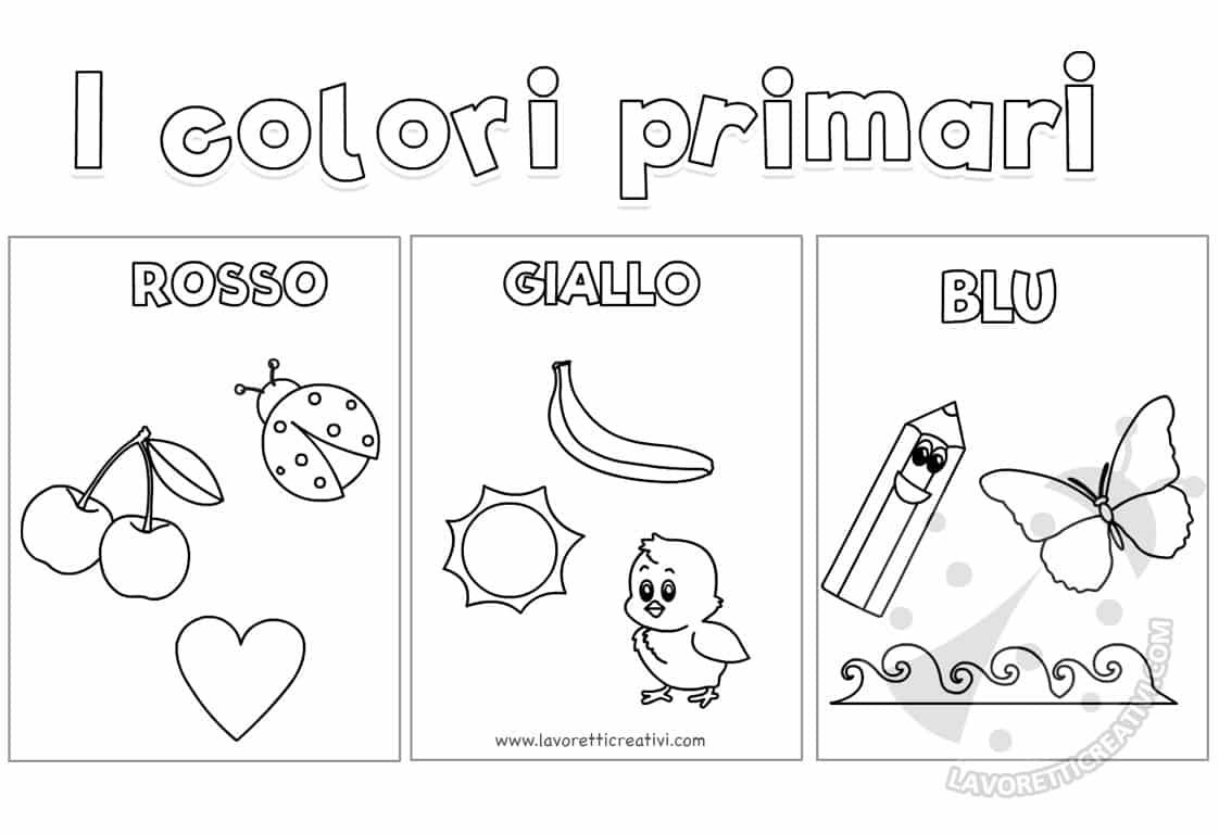Colori Primari Scuola Infanzia Disegni Per Bambini Da Colorare