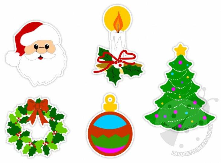 Immagini Di Natale Colorate.Disegni Di Natale Colorati Per Addobbi Da Ritagliare
