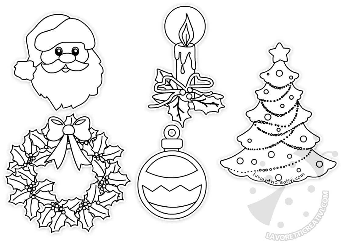Disegni Di Natale Lavoretti.Disegni Di Natale Colorati Per Addobbi Da Ritagliare Lavoretti