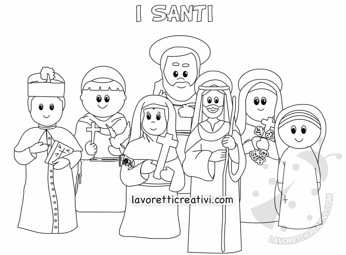 Disegni Di Santi Da Colorare Tutti I Santi Lavoretti Creativi