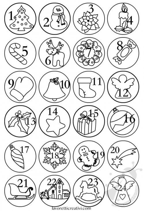 Calendario Dellavvento Da Stampare Per Bambini.Numeri Calendario Dell Avvento Da Stampare Lavoretti Creativi