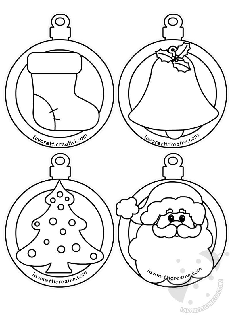 Disegni Di Palline Di Natale Da Stampare E Colorare.Palline Di Natale Di Carta Con Disegni Da Colorare Lavoretti Creativi