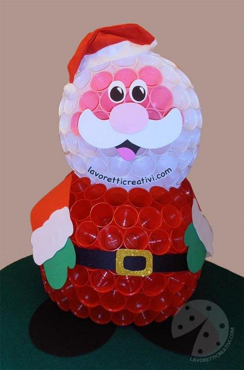 Babbo Natale Fatto Con I Bicchieri Di Plastica.Lavori Natalizi Con Bicchieri Di Plastica Powermall