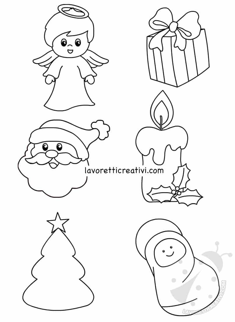 Disegni e sagome di Natale per decorazioni