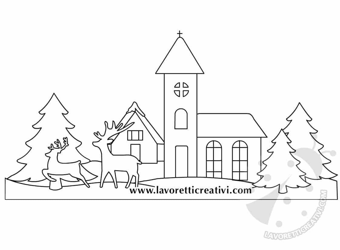 Decorare Finestre Per Natale Scuola decorazioni per finestre con paesaggio e finta neve