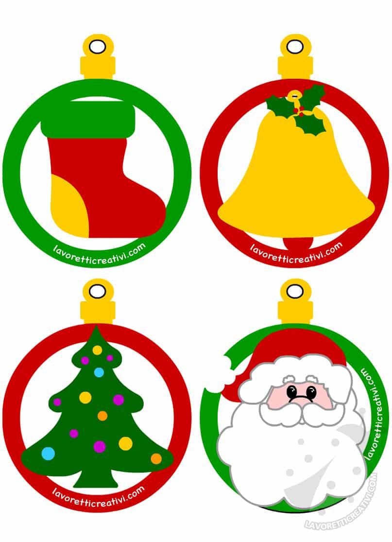 Palline Di Natale Di Carta Con Disegni Da Colorare Lavoretti Creativi